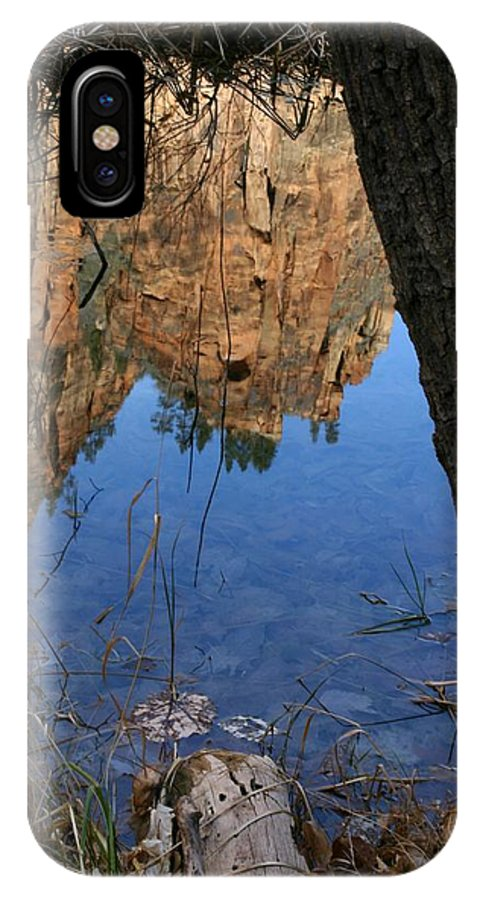 Zion IPhone X Case featuring the photograph Zion Reflections by Nelson Strong