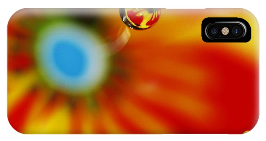 Macro Water Drop IPhone X Case featuring the photograph Zoom by Rebecca Cozart