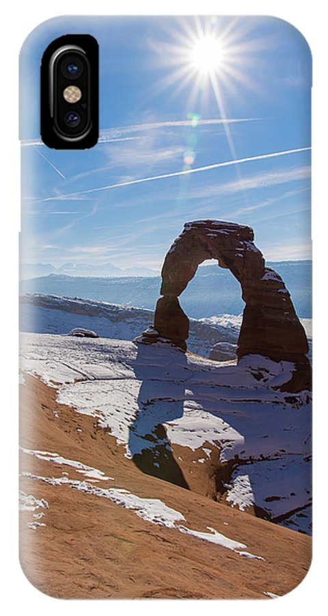 Delicate Arch IPhone X Case featuring the photograph Delicate Arch by Robert VanDerWal