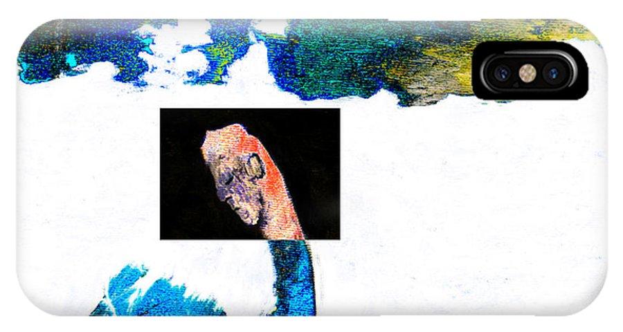 Horseman IPhone X Case featuring the digital art Horseman by Artist Dot