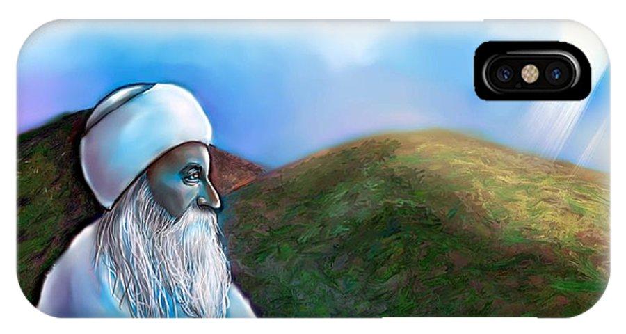 Spiritual IPhone X Case featuring the digital art The Guardian by Carmen Cordova