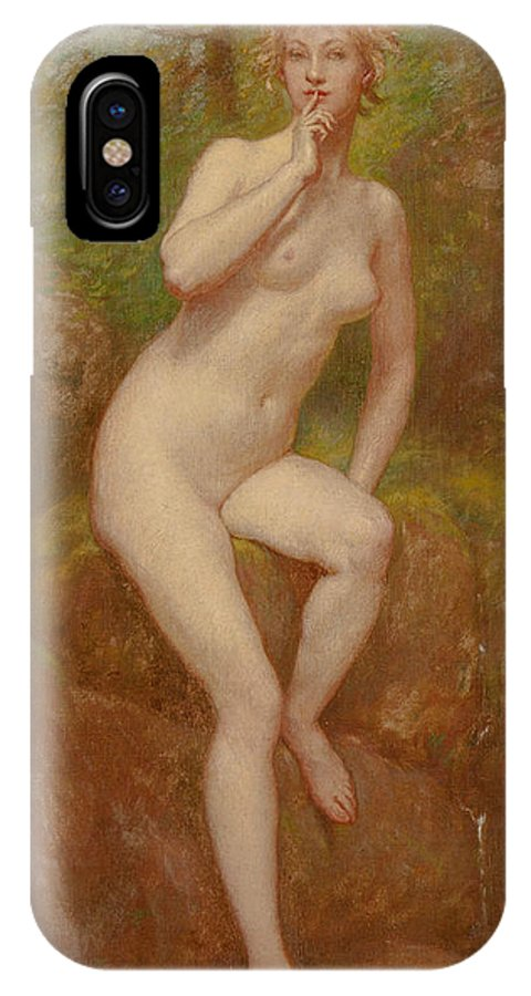 19th Century Art IPhone X Case featuring the painting The Stream's Secret by Kenyon Cox