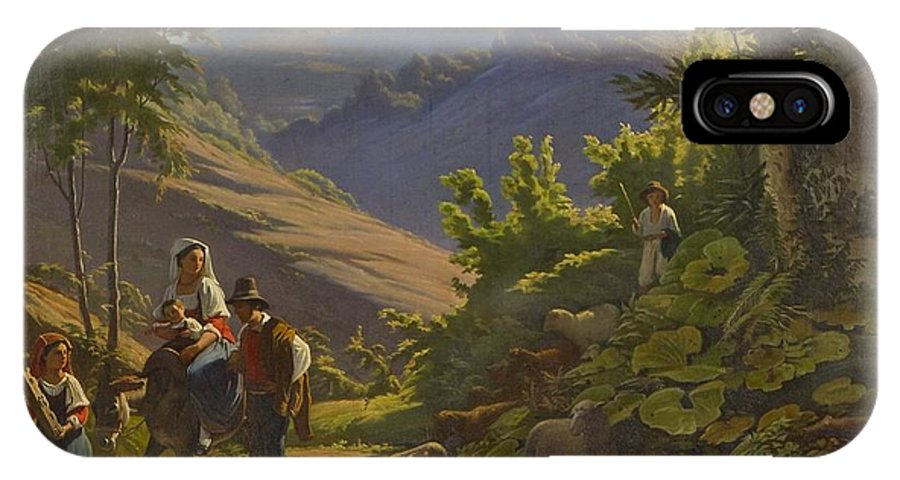 Johan Blackstadius (1816-1898) IPhone X Case featuring the painting Landscape by MotionAge Designs