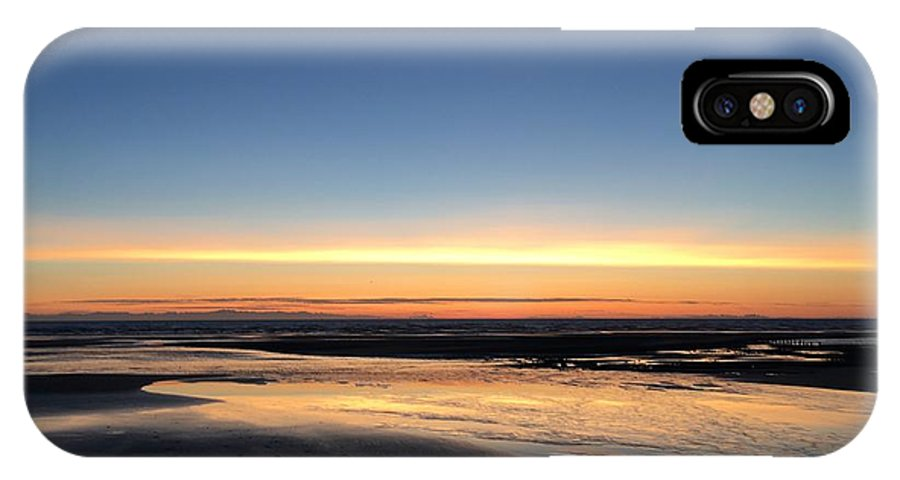 IPhone X Case featuring the photograph Beach Sunset, Blackpool, Uk 09/2017 by Michael Kane
