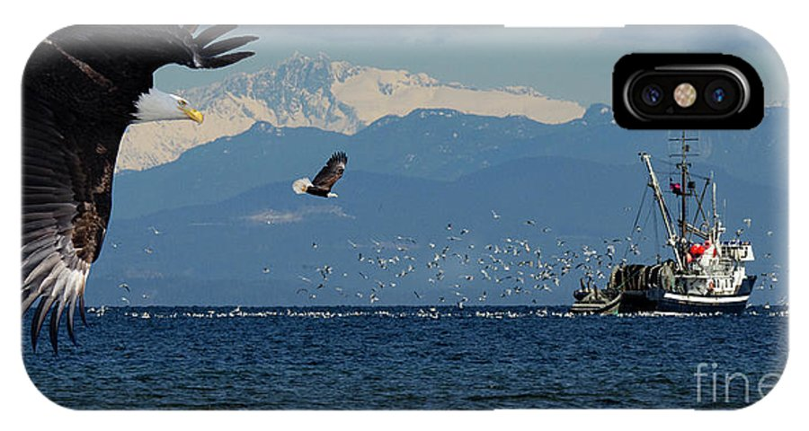 Beautiful British Columbia IPhone X Case featuring the photograph Gone Fishing by Bob Christopher