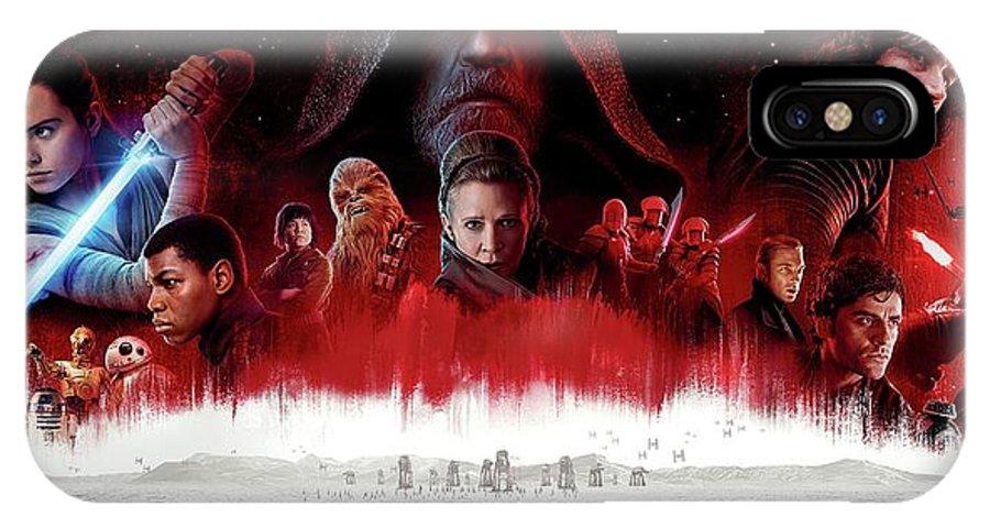 Star Wars The Last Jedi IPhone X Case featuring the digital art Star Wars The Last Jedi by Geek N Rock