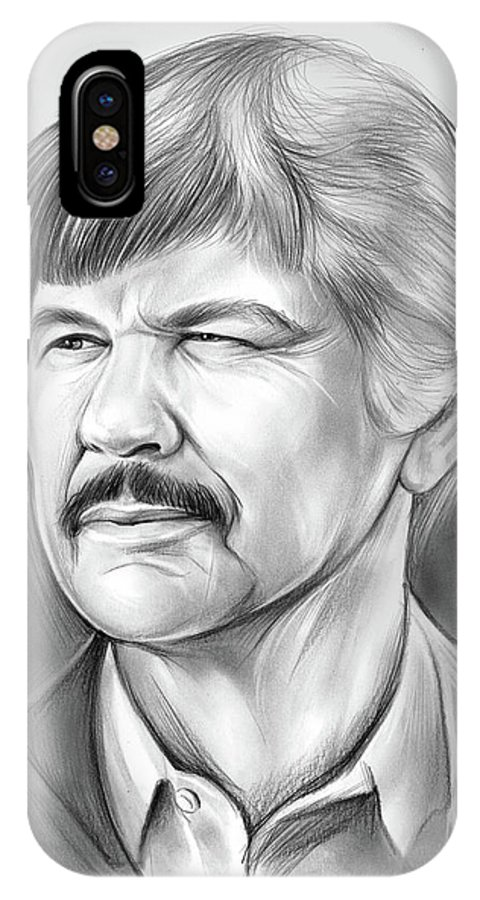 Charles Bronson IPhone X Case featuring the drawing Charles Bronson by Greg Joens
