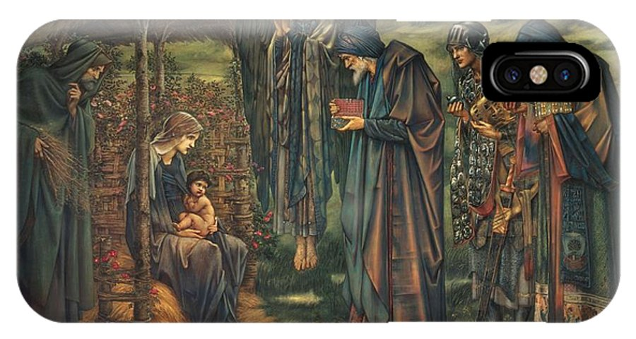 The Star Of Bethlehem IPhone X Case featuring the painting The Star Of Bethlehem by Edward Burne-Jones