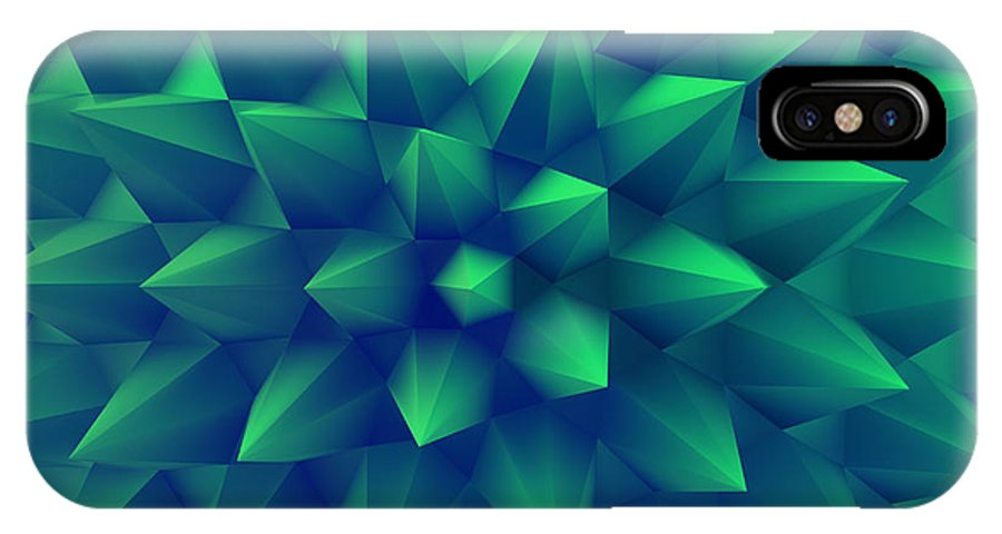 Biotechnology IPhone X Case featuring the digital art 3d Abstract Background. Vector by Login