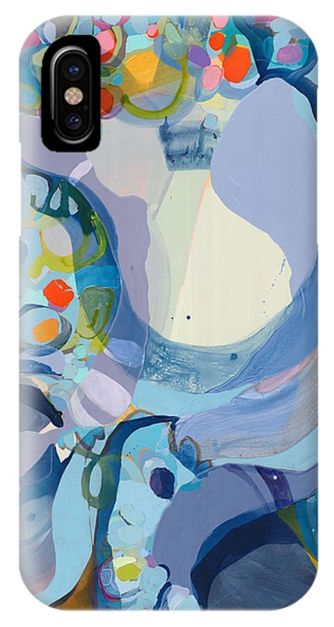 Abstract IPhone X Case featuring the painting 70 Degrees by Claire Desjardins