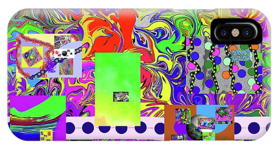Walter Paul Bebirian IPhone X Case featuring the digital art 9-10-2015babcdefghijklmnopqrtuvwx by Walter Paul Bebirian