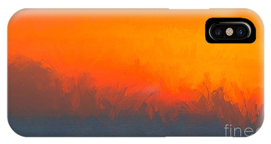 Abstract IPhone X Case featuring the digital art A Moment Gone by Eddy Mann