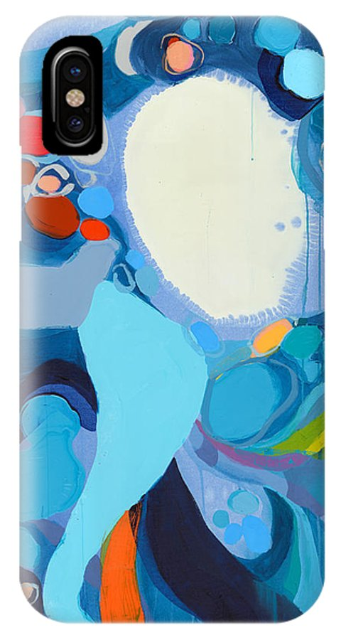 Abstract IPhone X Case featuring the painting A Woman Named Emory by Claire Desjardins