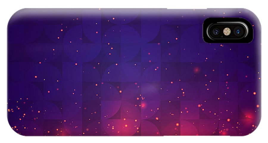 Red IPhone X Case featuring the digital art Abstract Background For Design. Vector by Skillup