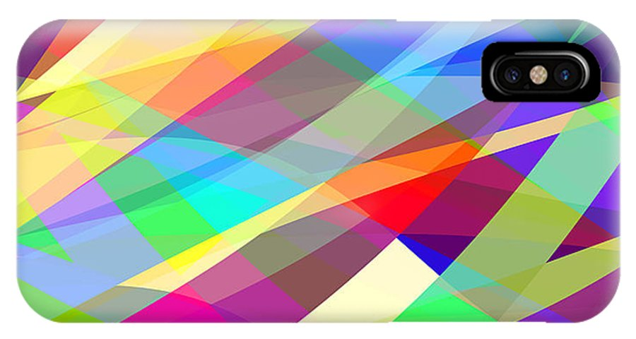 Random IPhone X Case featuring the digital art Abstract Editable Vector Background Of by Robert Adrian Hillman