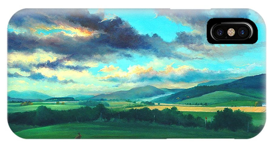 Scotish IPhone X Case featuring the painting After The Storm by Ashley Jennings