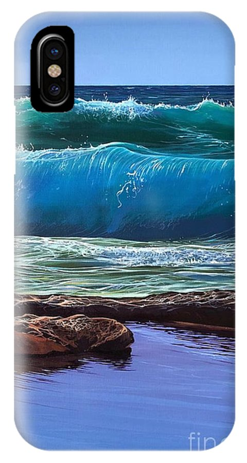 Puerto Vallarta IPhone X Case featuring the painting Aguas de Marco by Hunter Jay