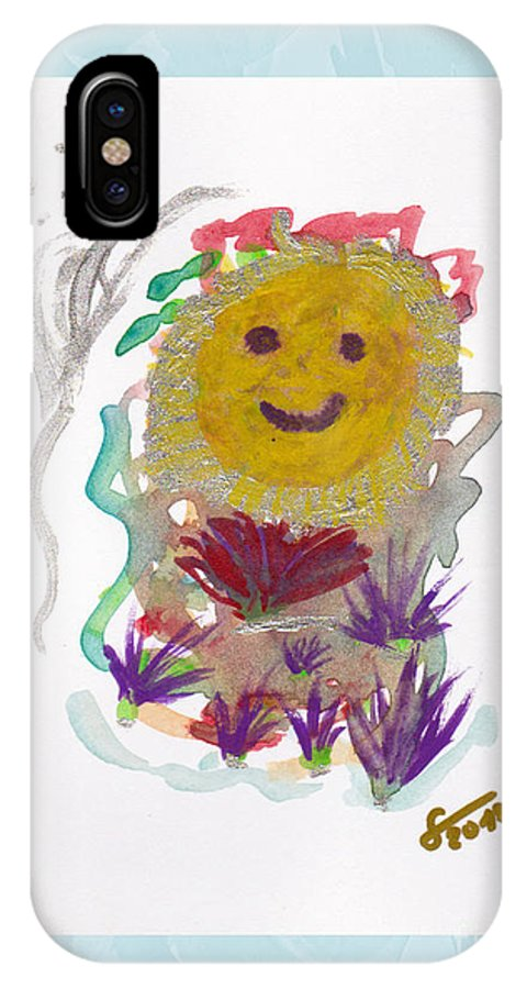 Painting IPhone X Case featuring the painting Alegria - Pintoresco Art By Sylvia by Sylvia Pintoresco