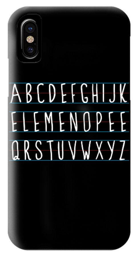 Cool IPhone X Case featuring the digital art Alphabet Elemeno by Flippin Sweet Gear