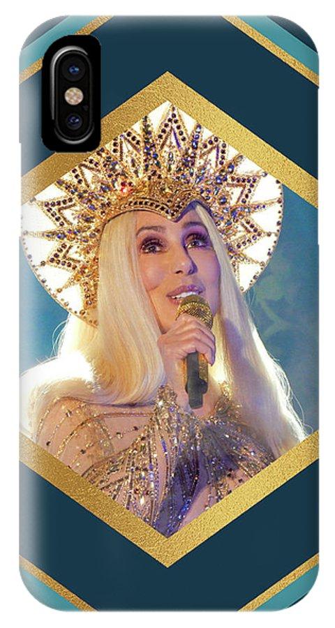 Cher IPhone X Case featuring the digital art Queen Cher by Gabrielle D