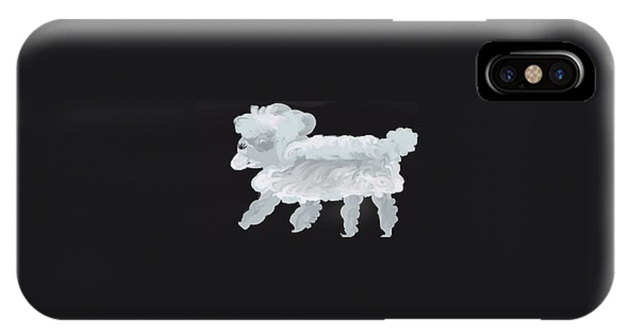 Blanco IPhone X Case featuring the digital art Blanco by Joan Ellen Kimbrough Gandy of The Art of Gandy