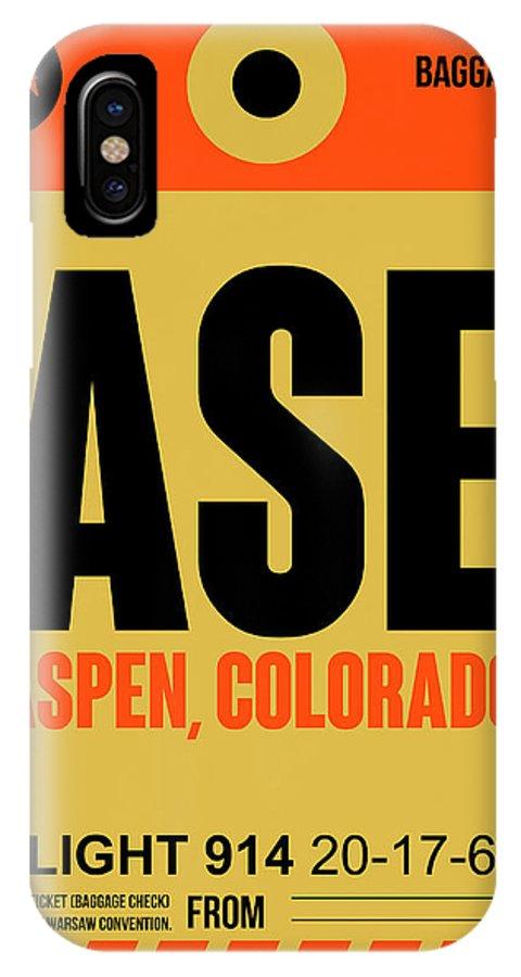 Aspen IPhone X Case featuring the digital art Ase Aspen Luggage Tag I by Naxart Studio