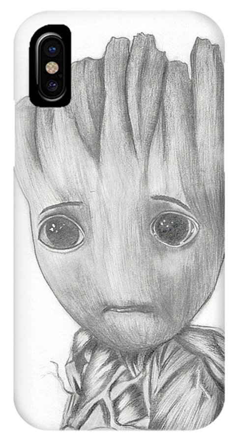 Baby Groot Drawing Iphone X Case For Sale By Madura Venkatachalam