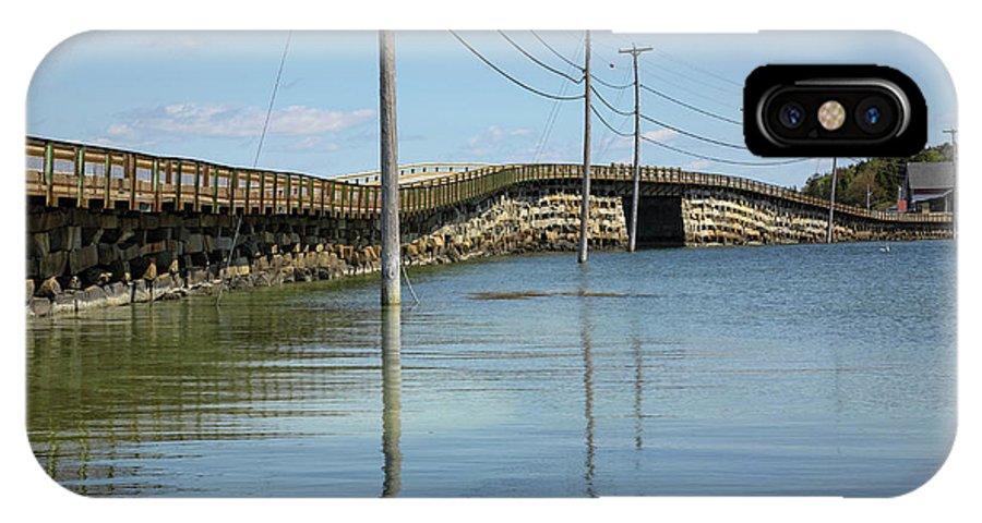 Landscape IPhone X Case featuring the photograph Bailey Island Bridge - Harpswell Maine USA by Erin Paul Donovan