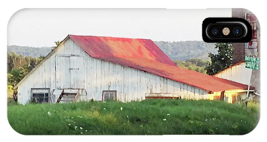 Barn IPhone X Case featuring the photograph Barn With Red Roof by Christine Lathrop