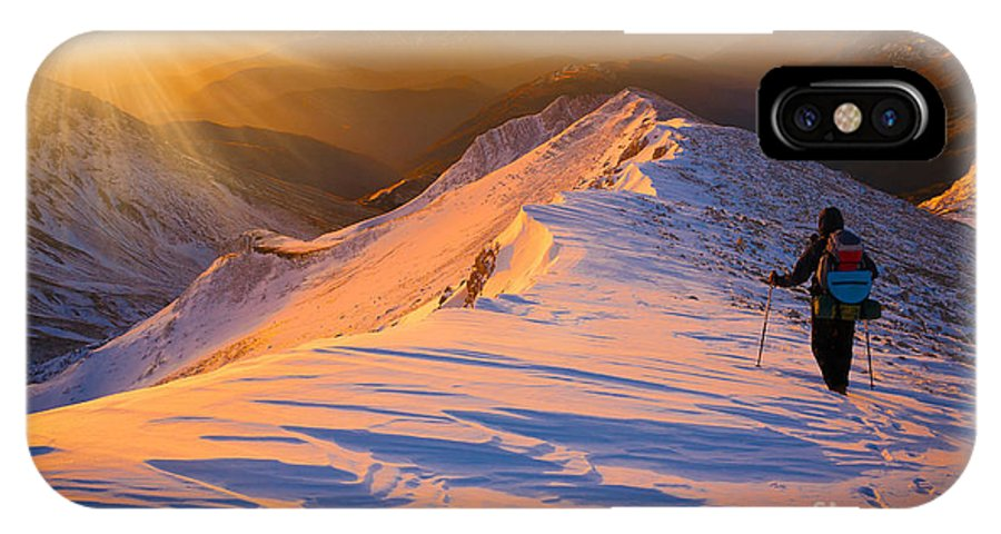 Achievement IPhone X Case featuring the photograph Beautiful Amazing Sunset Winter by Erainbow