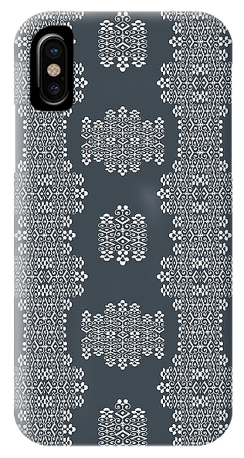 Grey And White IPhone X Case featuring the digital art Bella Cake Shea by Ceil Diskin