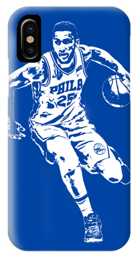 3fe61a6184a Ben Simmons IPhone X Case featuring the mixed media Ben Simmons  Philadelphia 76ers T Shirt Apparel