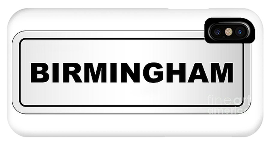 Birmingham IPhone X Case featuring the digital art Birmingham City Nameplate by Bigalbaloo Stock