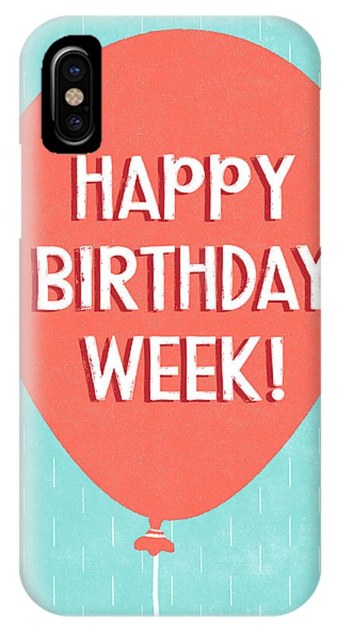 Birthday Week Red Balloon Art By Linda Woods Iphone X Case