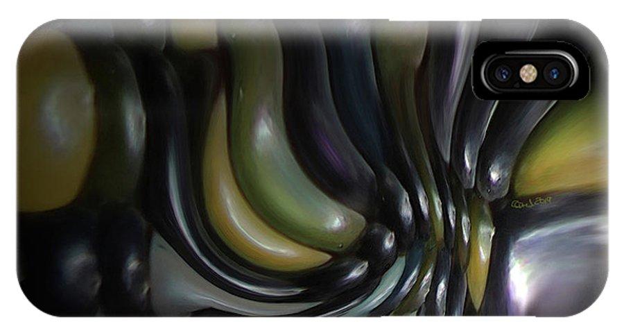 Blue IPhone X Case featuring the digital art Blue And Yellow Maiz by Carel Schmidlkofer