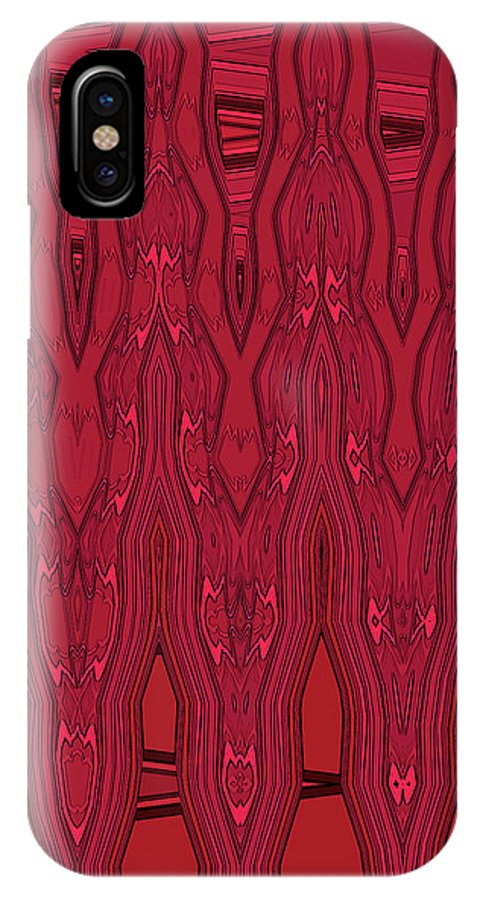 IPhone X Case featuring the digital art Bowling Pins 1 by Margaret Meg Murray