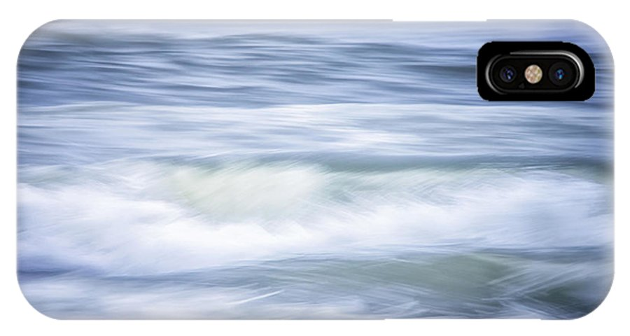California IPhone X Case featuring the photograph Brush Strokes Wave Art by Marnie Patchett