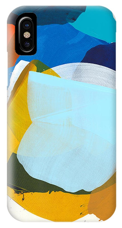 Abstract IPhone X Case featuring the painting California 05 by Claire Desjardins