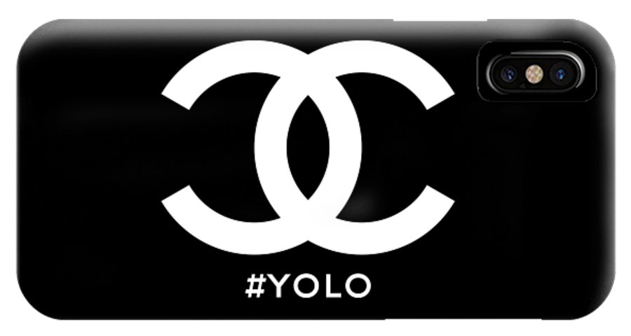 Chanel IPhone X Case featuring the painting Chanel You Only Live Once by Nikita