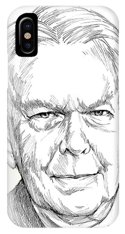 History IPhone X Case featuring the drawing Charles Hamilton by Greg Joens