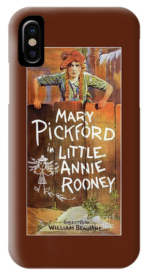 Little IPhone X Case featuring the painting Classic Movie Poster - Little Annie Rooney by Esoterica Art Agency