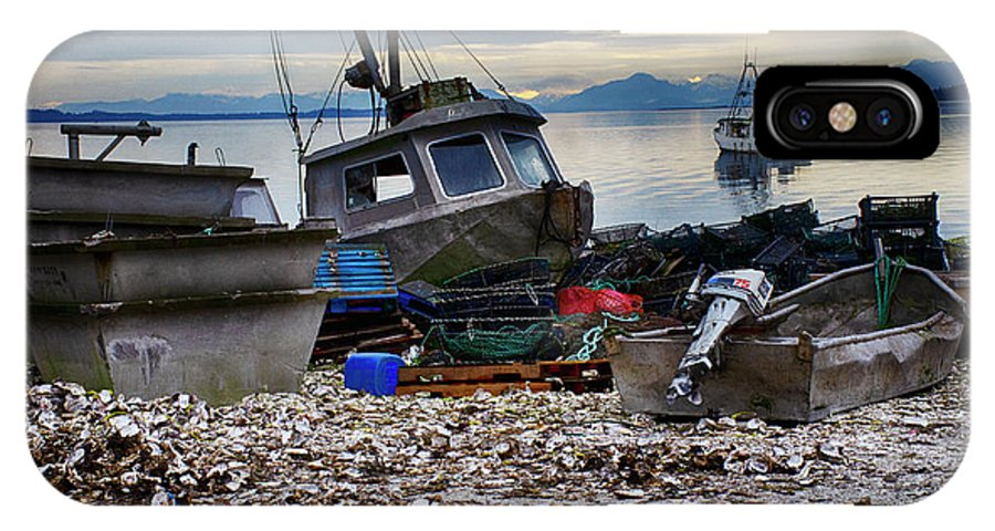 Boat IPhone X Case featuring the photograph Coastal Fishing Vancouver Island by Bob Christopher