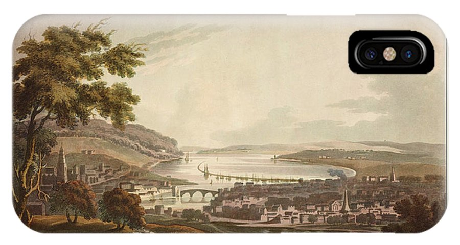 Antique Print Of Cork IPhone X Case featuring the photograph Cork Ireland 1799 by Andrew Fare