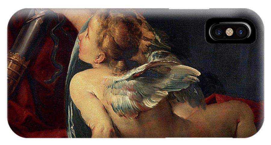 Giulio Cesare Procaccini IPhone X Case featuring the painting Cupid, 1620 by Giulio Cesare Procaccini