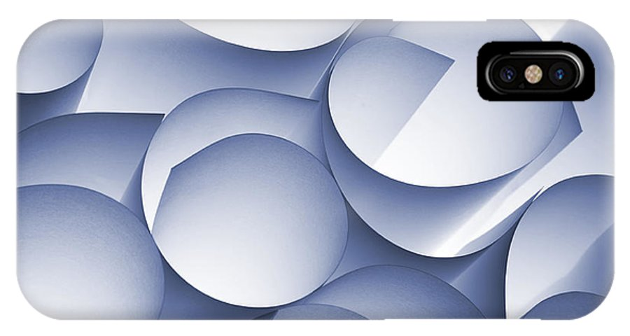 Coil IPhone X Case featuring the photograph Curly Paper Abstract by Daniel M. Nagy