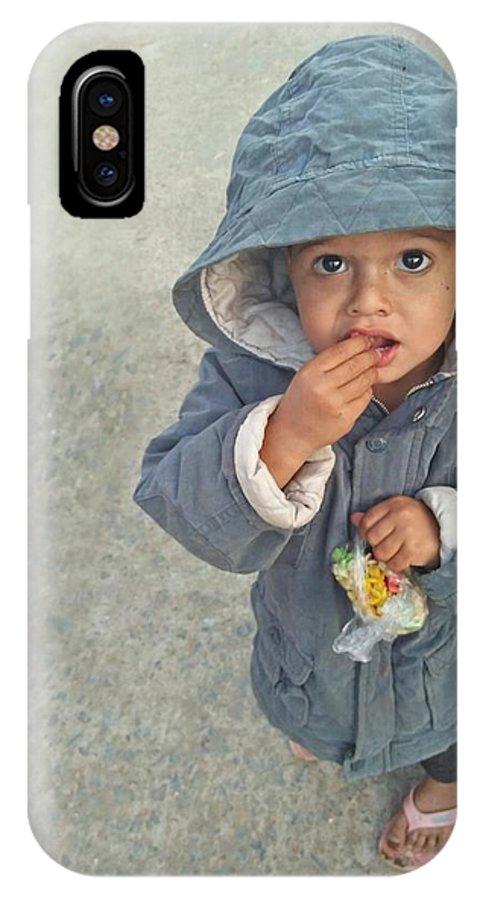 Cute IPhone X Case featuring the photograph Cute Baby by Imran Khan