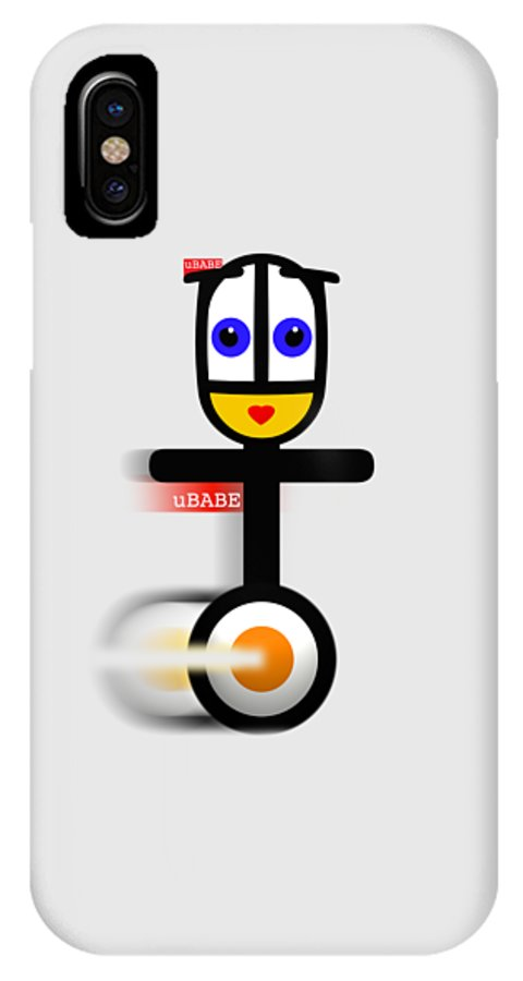 Ubabe Style IPhone X Case featuring the digital art Cycle Babe by Ubabe Style