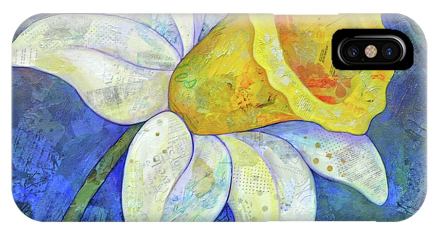 Daffodil IPhone X Case featuring the painting Daffodil Festival I by Shadia Derbyshire