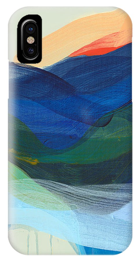 Abstract IPhone X Case featuring the painting Deep Sleep Undone by Claire Desjardins