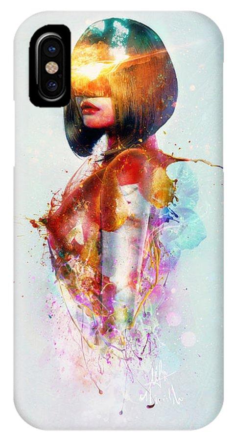 Surreal IPhone X Case featuring the digital art Deja Vu by Mario Sanchez Nevado